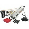 MANDOLINE DU CHEF CLASSIC 15000 met 2 messen 4 kammen: 2mm 4mm 7mm 10mm