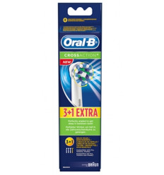 3+1 TANDBORSTEL CROSS ACTION ORALB BRAUN ANTI BACTERIE