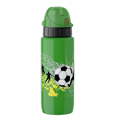 DRINKBUS 0.6L INOX VOETBAL GROEN EMSA DRINK2GO AUTOCLOSE LIGHT STEEL